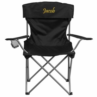 Flash Furniture TY1410 Folding Camping Chair with Drink Holder