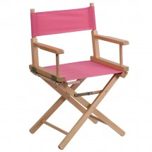 Flash Furniture TYD02-PK-GG Pink Standard Height Directors Chair