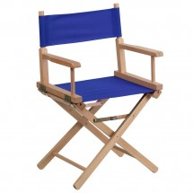 Flash Furniture TYD02-BL-GG Blue Standard Height Directors Chair