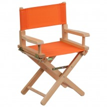 Flash Furniture TYD03-OR-GG Orange Kid Size Directors Chair
