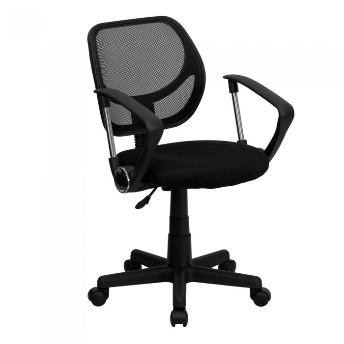 flash furniture wa 3074 bk a gg mid back black mesh task chair with arms