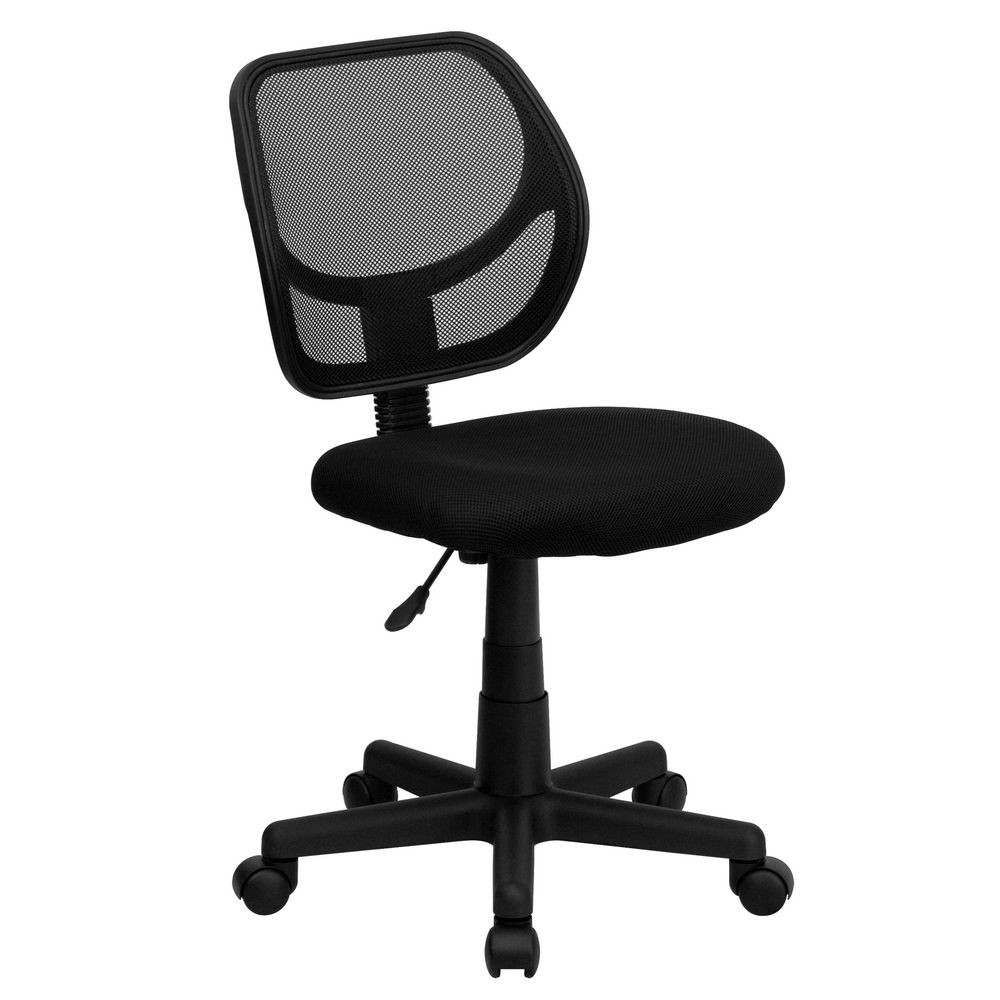 Flash Furniture WA-3074-BK-GG Mid-Back Black Mesh Task Chair and Computer Chair