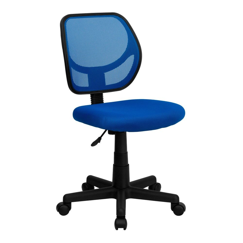 Flash Furniture WA-3074-BL-GG Mid-Back Blue Mesh Task Chair and Computer Chair