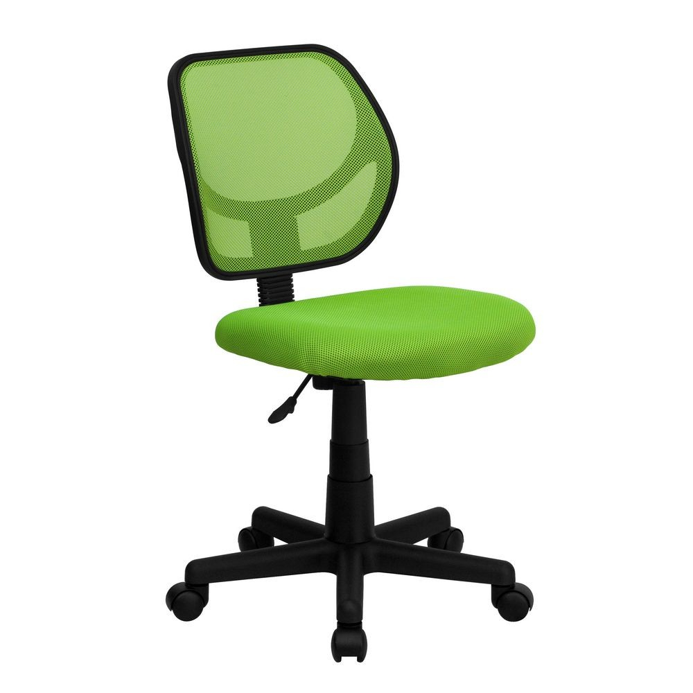 Flash Furniture WA-3074-GN-GG Mid-Back Green Mesh Task Chair and Computer Chair