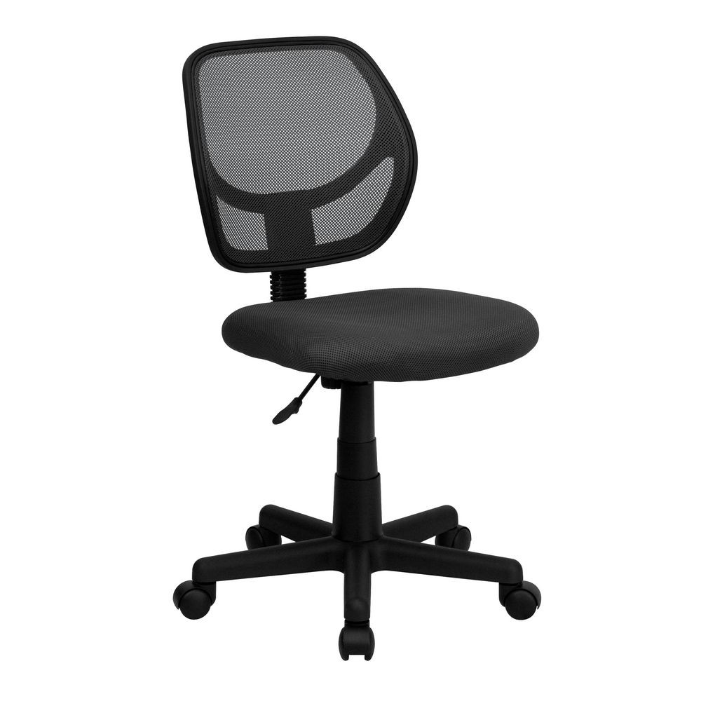 Flash Furniture WA-3074-GY-GG Mid-Back Gray Mesh Task Chair and Computer Chair