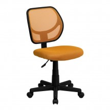 Flash Furniture WA-3074-OR-GG Mid-Back Orange Mesh Task Chair and Computer Chair
