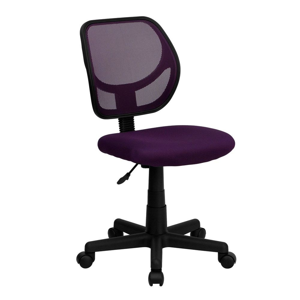 Flash Furniture WA-3074-PUR-GG Mid-Back Purple Mesh Task Chair and Computer Chair