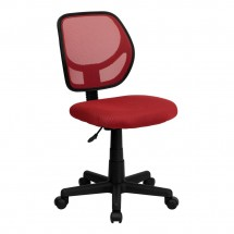 Flash Furniture WA-3074-RD-GG Mid-Back Red Mesh Task Chair and Computer Chair