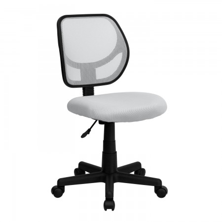 Flash Furniture WA-3074-WHT-GG Mid-Back White Mesh Task Chair