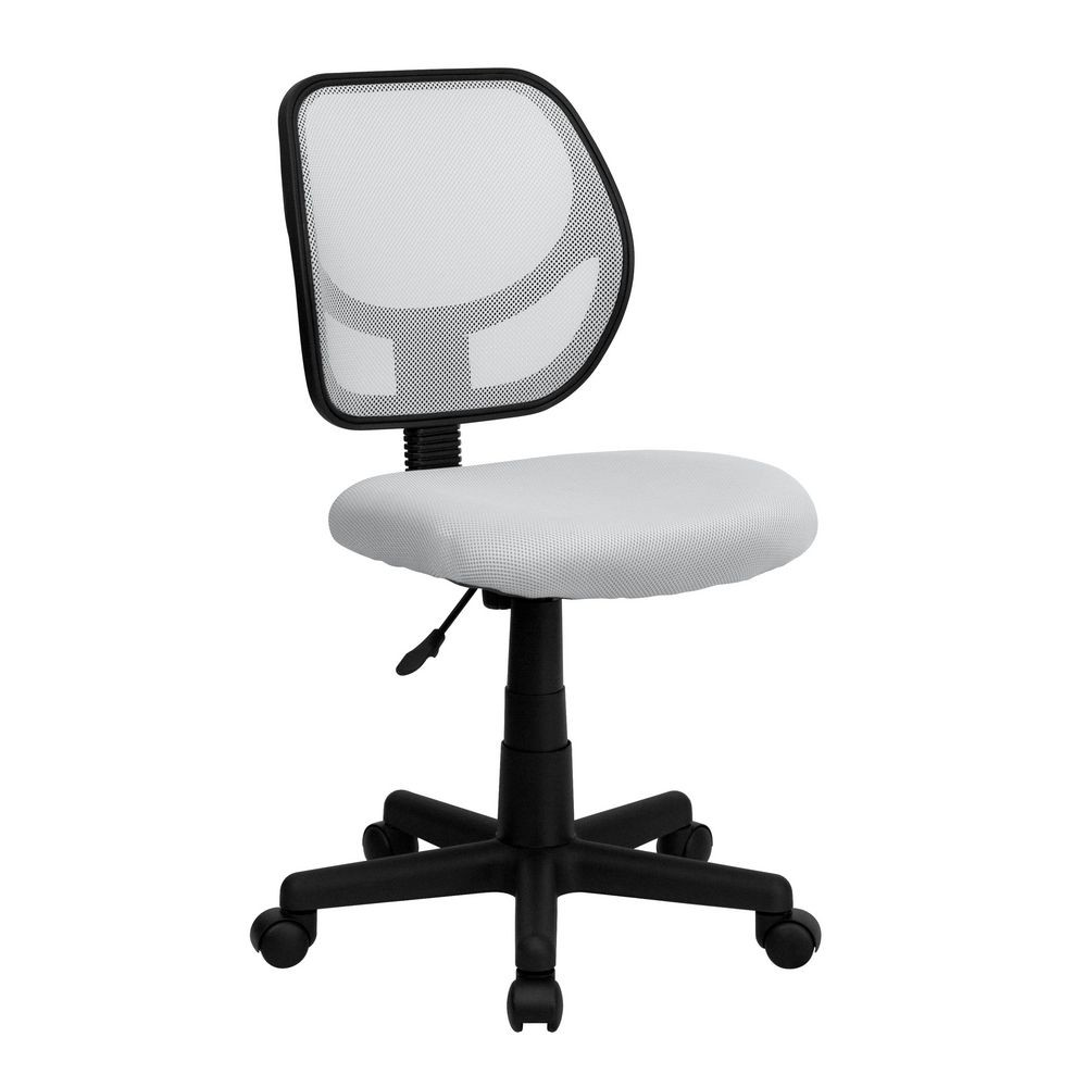 Flash Furniture WA-3074-WHT-GG Mid-Back White Mesh Task Chair and Computer Chair
