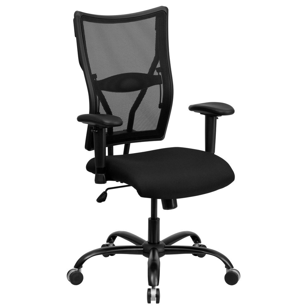 Flash Furniture WL-5029SYG-A-GG HERCULES Series 400 lb. Capacity Big and Tall Black Mesh Office Chair with Arms