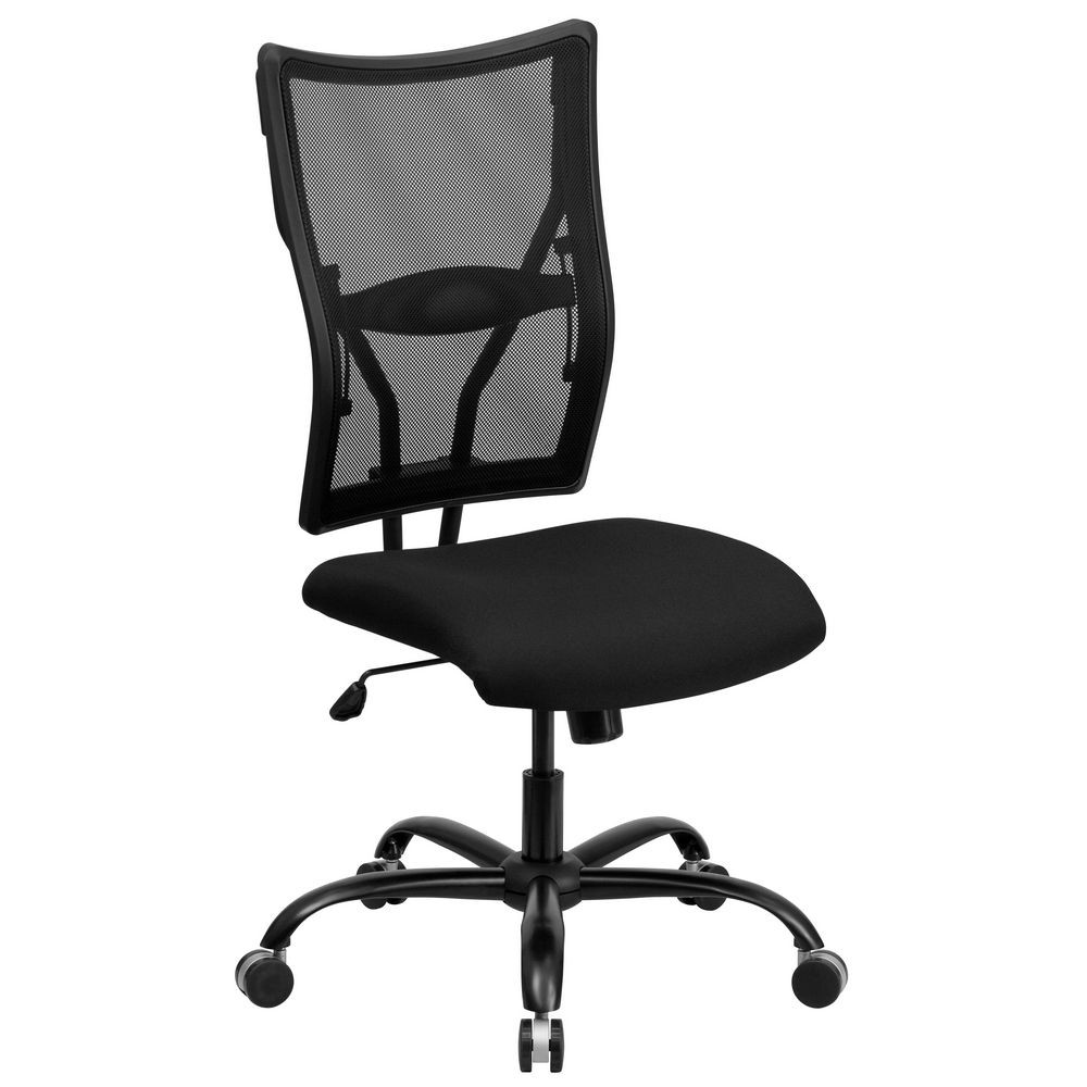 Flash Furniture WL-5029SYG-GG HERCULES Series 400 lb. Capacity Big and Tall Black Mesh Office Chair