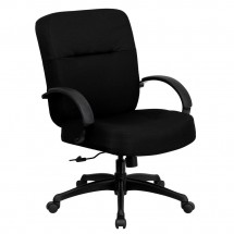 Flash Furniture WL-723ATG-BK-GG HERCULES Series 400 lb. Capacity Big and Tall Black Fabric Office Chair with Arms and Extra Wide Seat