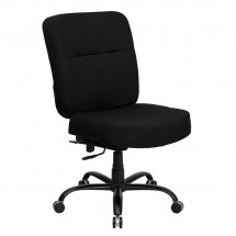 Flash Furniture WL-735SYG-BK-GG HERCULES Series 400 lb. Capacity Big and Tall Black Fabric Office Chair with Extra Wide Seat