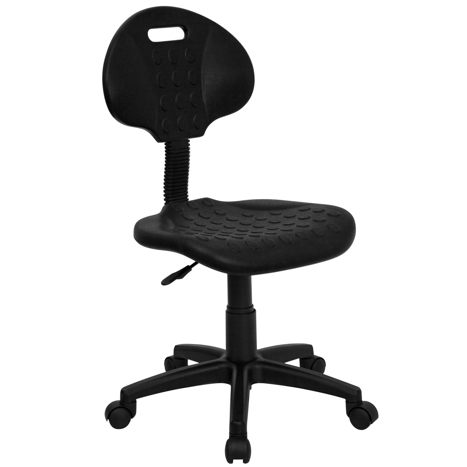 Flash Furniture WL-908G-GG ''Tuff Butt'' Soft Black Polypropylene Utility Task Chair
