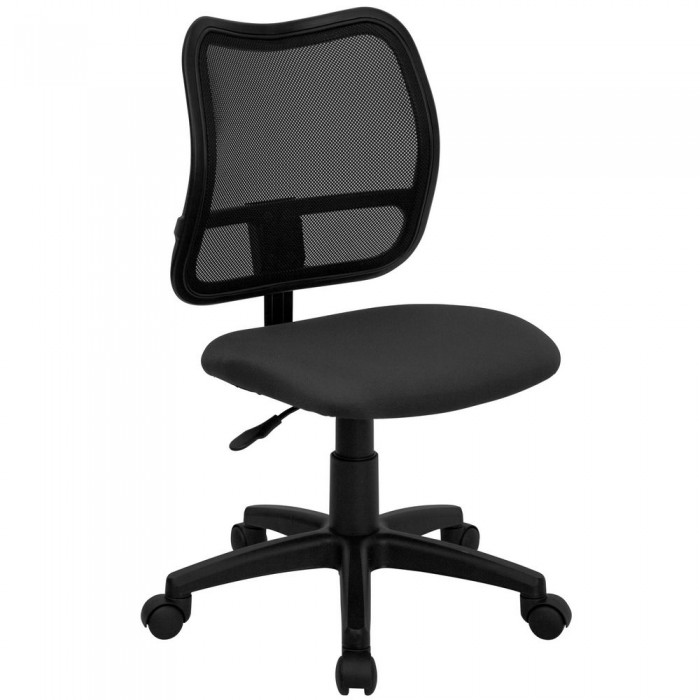 flash furniture wl a277 gy gg mid back mesh task chair with gray