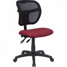 Flash Furniture WL-A7671SYG-BY-GG Mid-Back Mesh Task Chair with Burgundy Fabric Seat