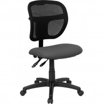 Flash Furniture WL-A7671SYG-GY-GG Mid-Back Mesh Task Chair with Gray Fabric Seat