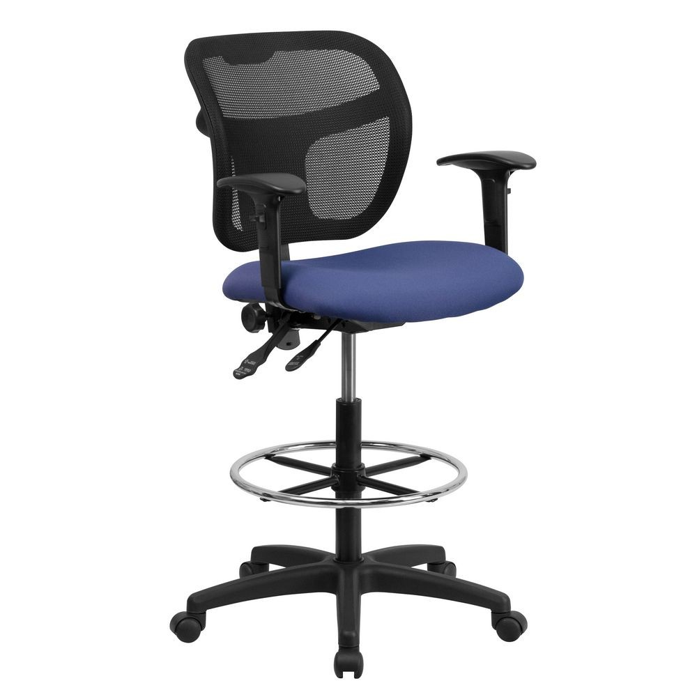 Flash Furniture WL A7671SYG NVY AD GG Mid Back Mesh  : Flash Furniture WL A7671SYG NVY AD GG Mid Back Mesh Drafting Stool with Navy Blue Fabric Seat and Arms 137254xlarge from www.tigerchef.com size 1500 x 1500 jpeg 171kB