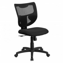 Flash Furniture WL-F061SYG-MF-GG Galaxy Mid-Back Designer Back Task Chair with Padded Fabric Seat
