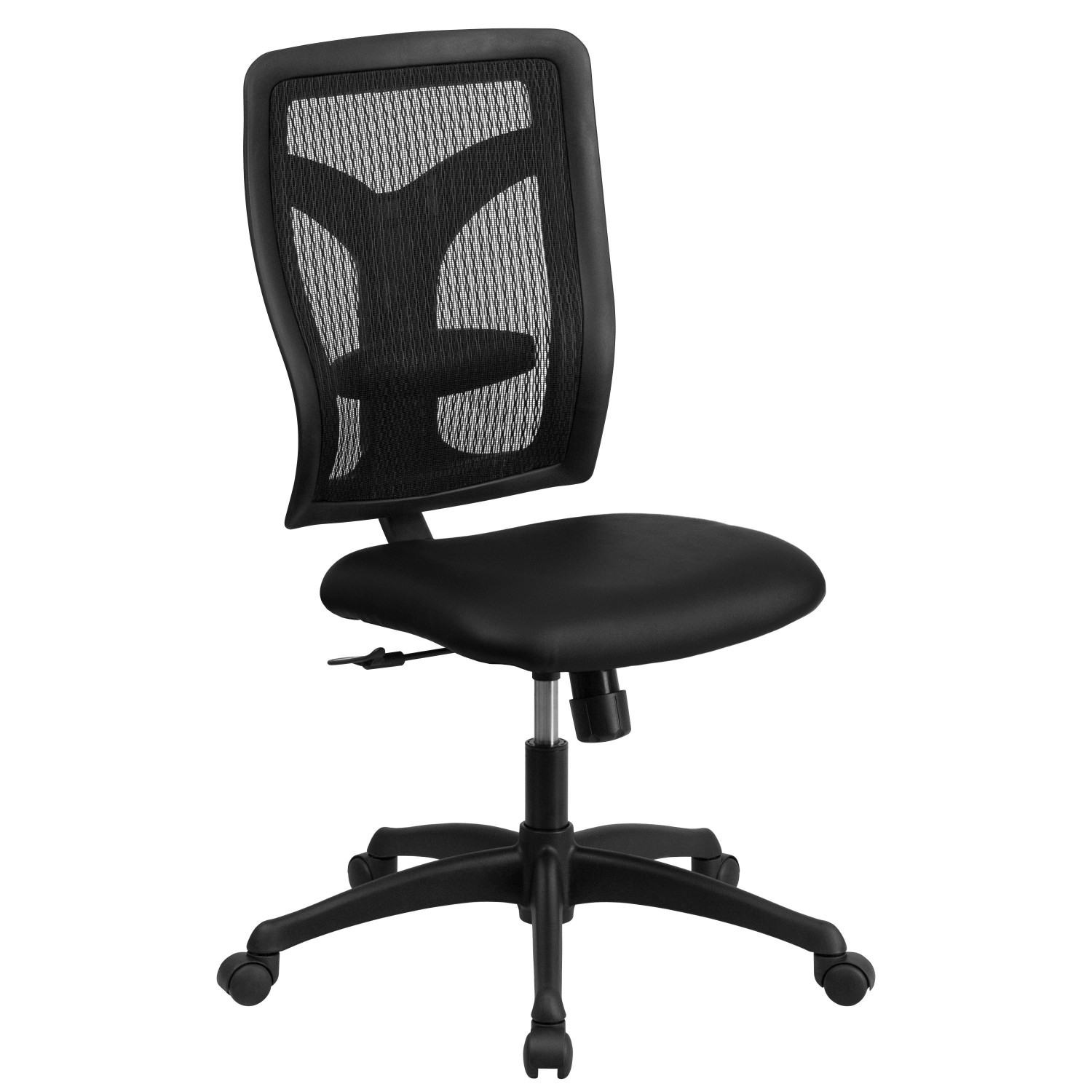 Flash Furniture WL-F062SYG-LEA-GG Galaxy High Back Designer Back Task Chair with Padded Leather Seat