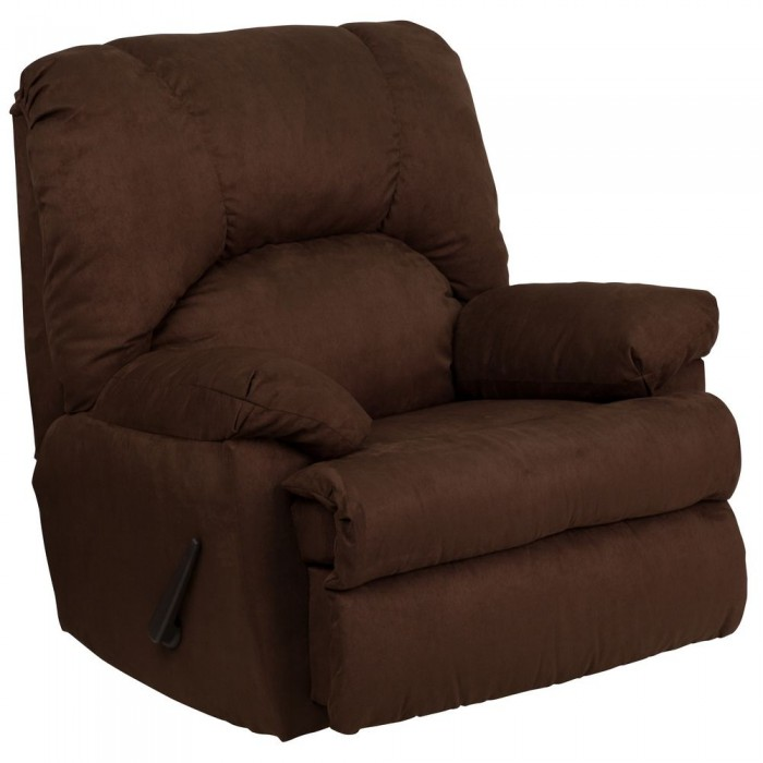Flash Furniture WM-8500-263-GG Contemporary Montana Chocolate Microfiber Suede Rocker Recliner