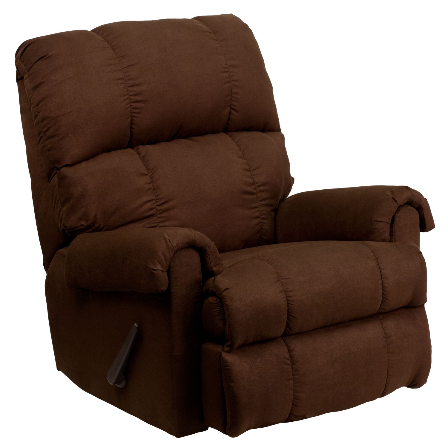 Flash Furniture WM-8700-112-GG Contemporary Flatsuede Chocolate Microfiber Rocker Recliner