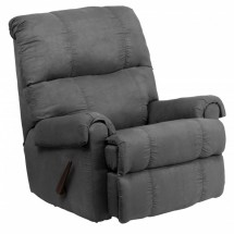 Flash Furniture WM-8700-113-GG Contemporary Flatsuede Graphite Microfiber Rocker Recliner