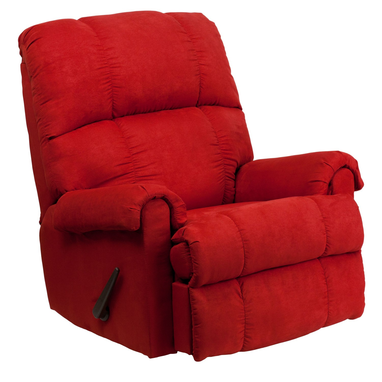 Flash Furniture WM-8700-216-GG Contemporary Flatsuede Red Rock Microfiber Rocker Recliner