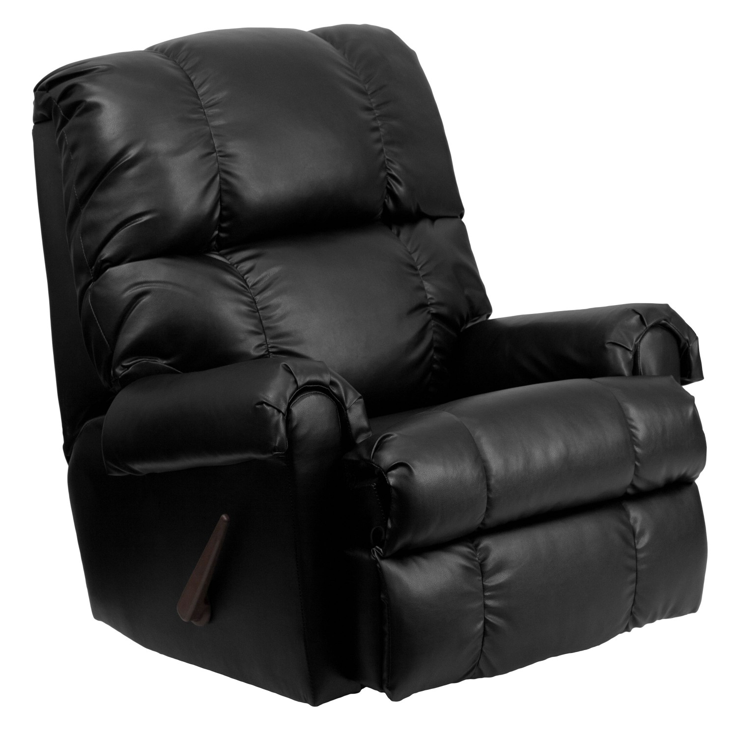 Flash Furniture WM-8700-371-GG Contemporary Apache Black Leather Rocker Recliner
