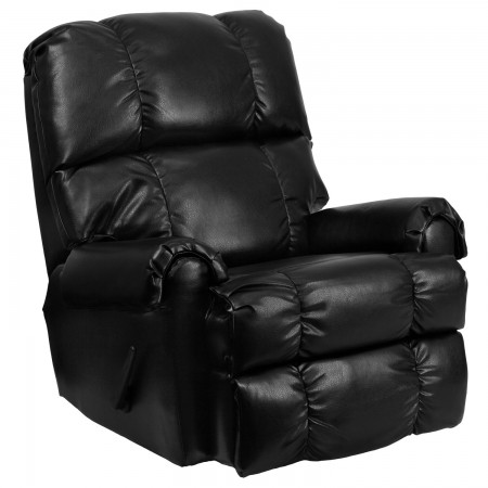 Flash Furniture WM-8700-622-GG Contemporary Black Ty Leather Rocker Recliner