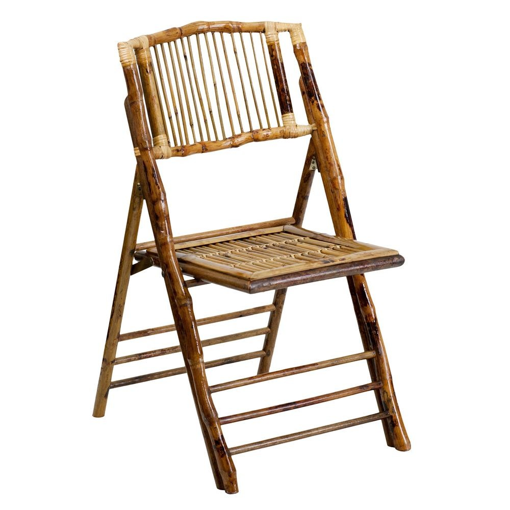 Flash Furniture X-62111-BAM-GG American Champion Bamboo Folding Chair