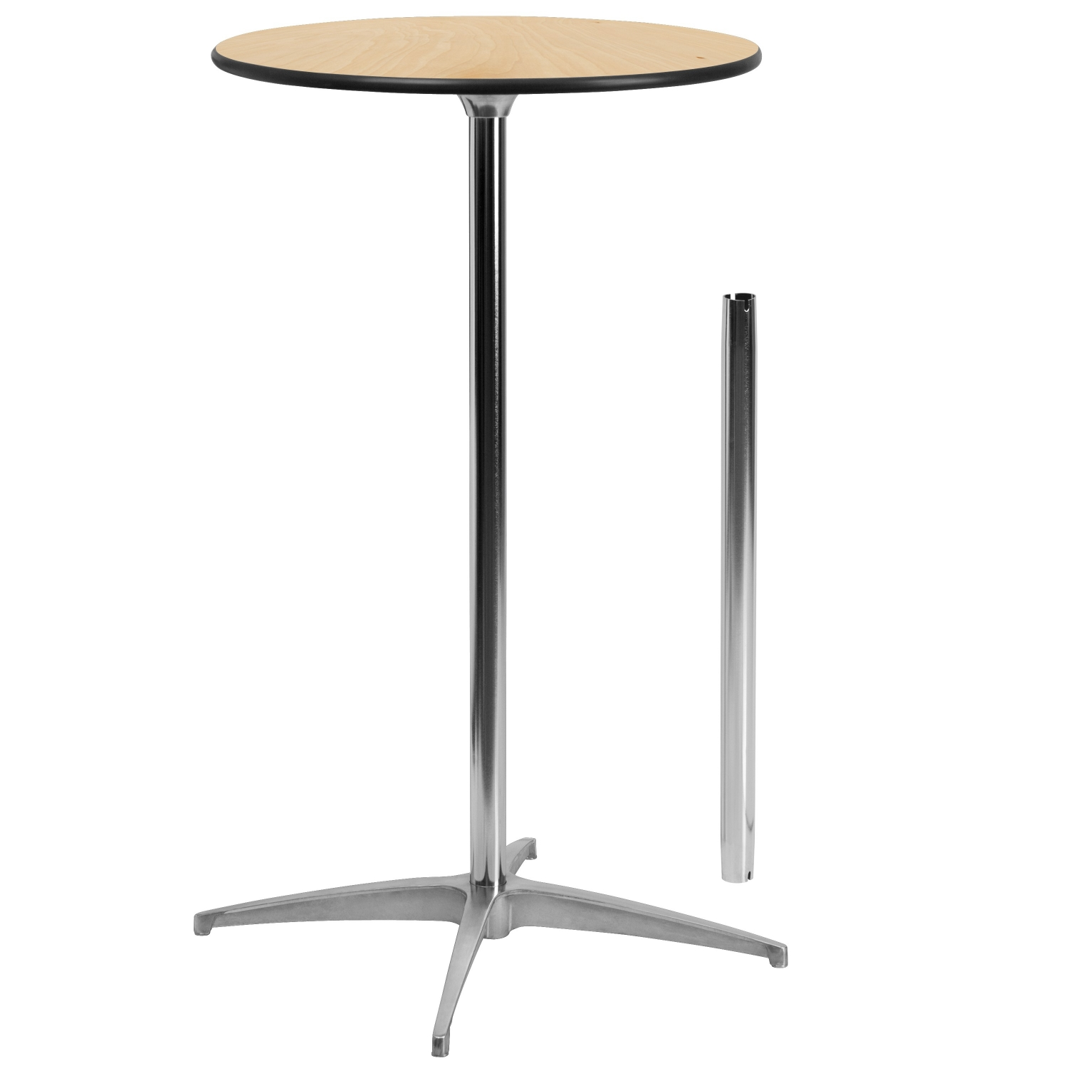 "Flash Furniture XA-24-COTA-GG 24"" Round Wood Cocktail Table with 30"" and 42"" Columns"
