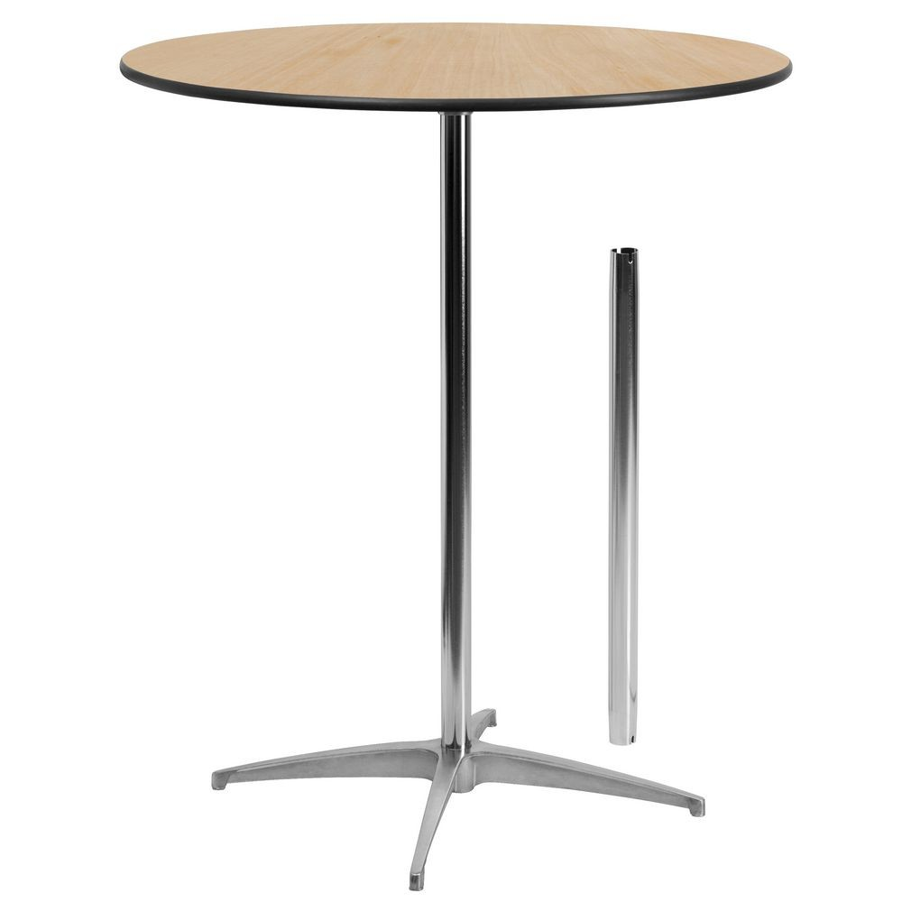 "Flash Furniture XA-36-COTA-GG 36"" Round Wood Cocktail Table with 30"" and 42"" Columns"