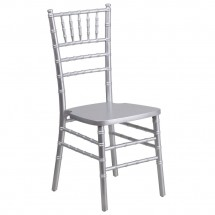 Flash Furniture XS-SILVER-GG Flash Elegance Supreme Silver Wood Chiavari Chair