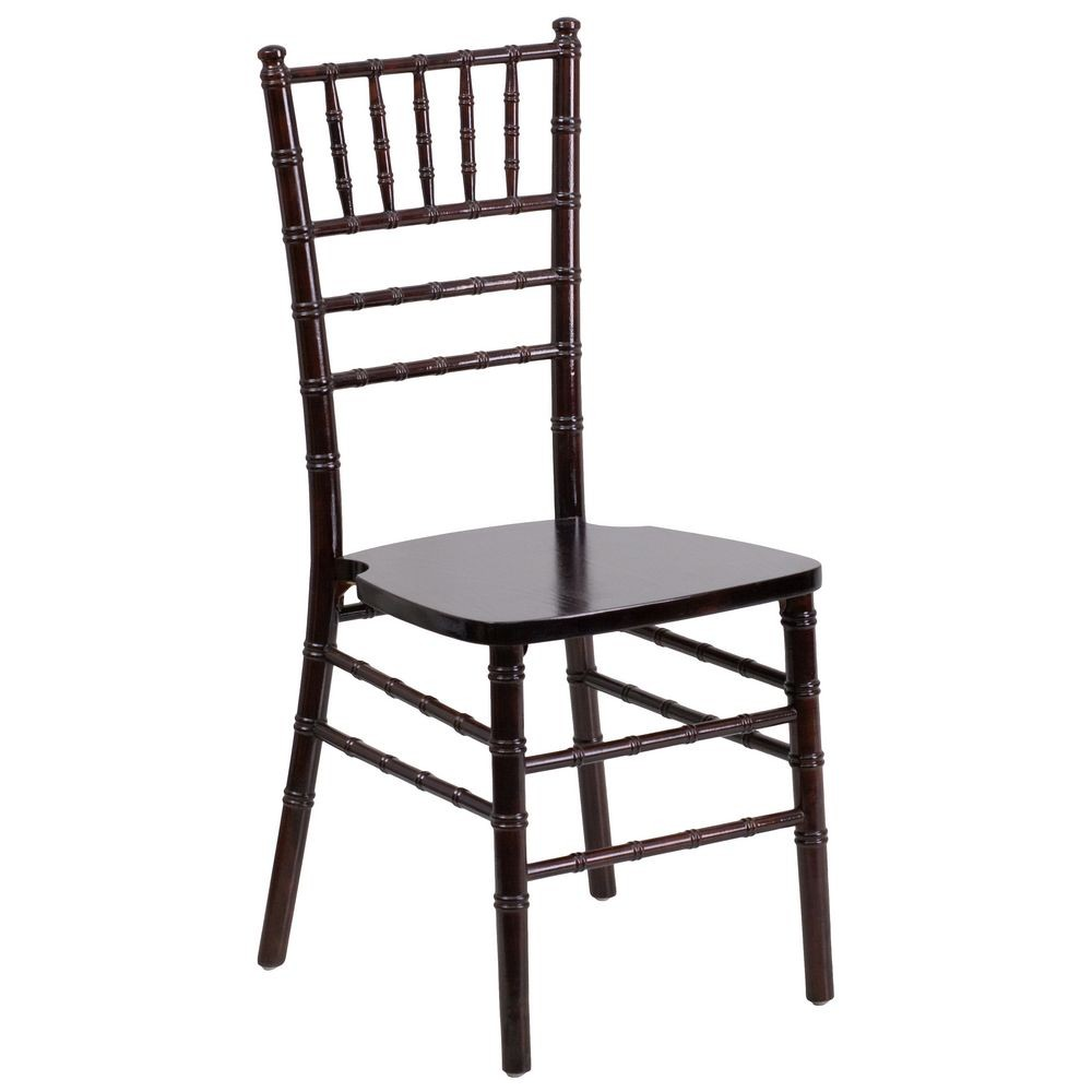 Flash Furniture XS-WALNUT-GG Flash Elegance Walnut Wood Chiavari Chair
