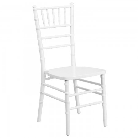 Flash Furniture XS-WHITE-GG White Wood Flash Elegance Chiavari Chair