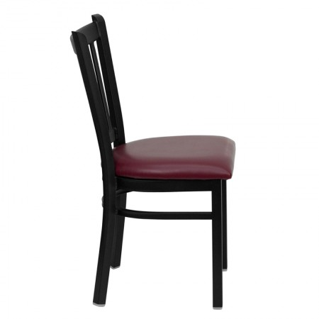 Flash Furniture XU-600-BURG-VYL-GG Burgundy Vinyl Replacement Seat for Metal Chairs and Barstools