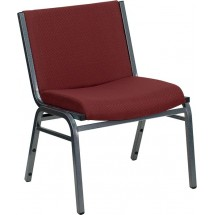 Flash Furniture XU-60555-BY-GG HERCULES Series 1000 lb. Capacity Big and Tall Extra Wide Burgundy Fabric Stack Chair