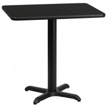 Flash Furniture XU-BLKTB-2430-T2222-GG 24 x 30 Rectangular Black Laminate Table Top with 22 x 22 Table Height Base