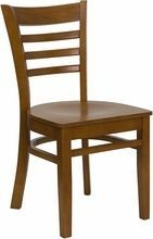 Flash Furniture XU-DGW0005LAD-CHY-GG HERCULES Series Cherry Finished Ladder Back Wooden Restaurant Chair