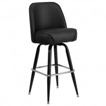 Flash Furniture XU-F-125-GG Metal Bar Stool with Swivel Bucket Seat