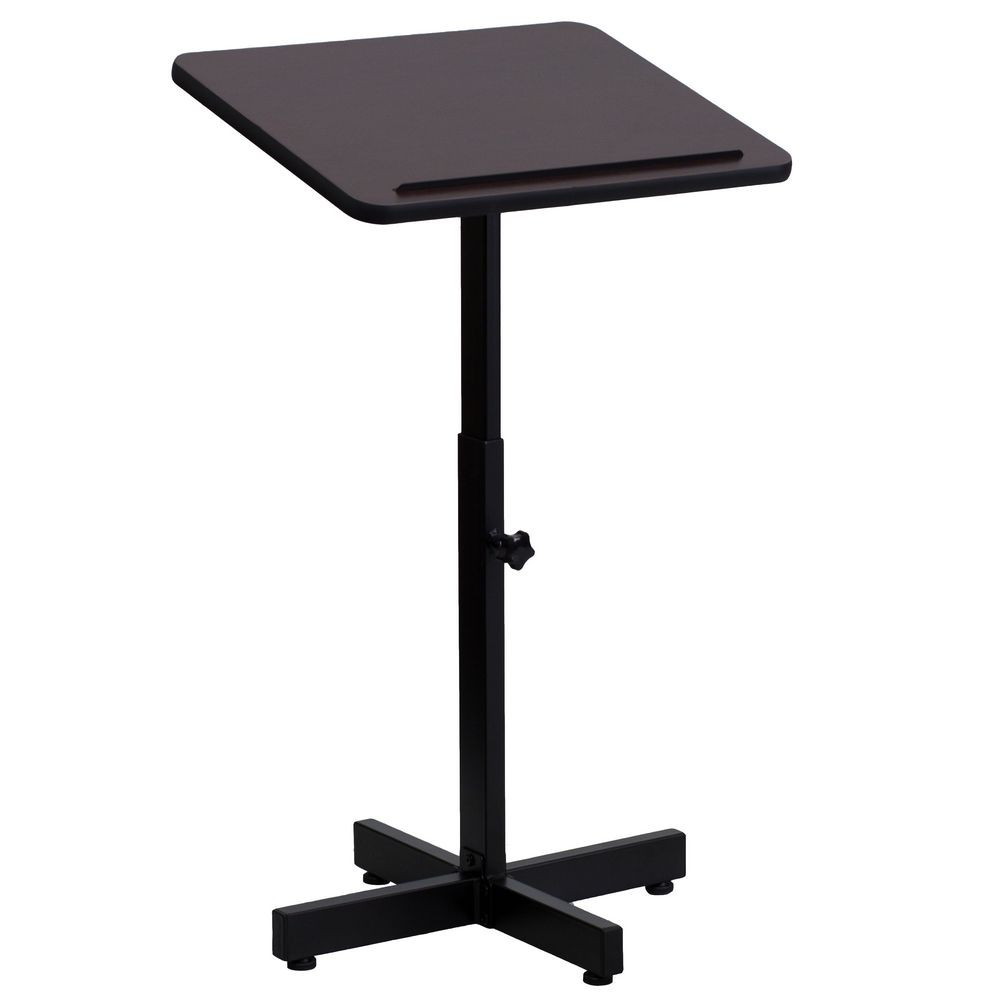 Flash Furniture XU-LECTERN-ADJ-GG Adjustable Height Metal Lectern