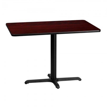 "Flash Furniture XU-MAHTB-3042-T2230-GG 30"" x 42"" Rectangular Mahogany Laminate Table Top with 22"" x 30"" Table Height Base"