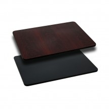 Flash Furniture XU-MBT-2442-GG 24'' x 42'' Rectangular Table Top with Black or Mahogany Reversible Laminate Top