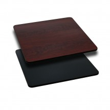 Flash Furniture XU-MBT-3030-GG Square Table Top with Black or Mahogany Reversible Laminate Top 30""
