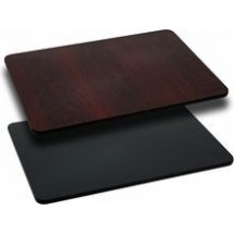 Flash Furniture XU-MBT-3045-GG 30'' x 45'' Rectangular Table Top with Black or Mahogany Reversible Laminate Top
