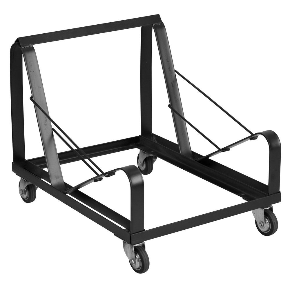 Flash Furniture XU-MC168-DOLLY-GG HERCULES Series Black Steel Sled Base Stack Chair Dolly