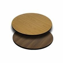 Flash Furniture XU-RD-24-WNT-GG Round Table Top with Natural or Walnut Reversible Laminate Top 24""