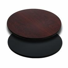 """Flash Furniture XU-RD-30-MBT-GG Round Table Top with Black or Mahogany Reversible Laminate Top 30"""""""